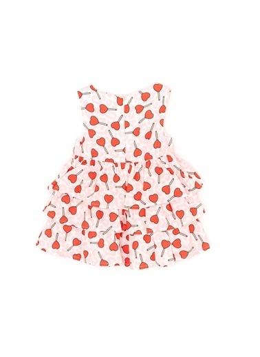 BG Baby Kız Bebek Desenli Elbise Renkli
